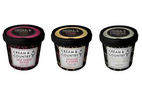 British Flavor Ice Creams - These Cream & Country Ice Creams are Inspired by Classic British Flavors
