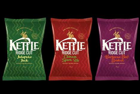Extra Crunchy Snack Chips - The Kettle Ridge Cut Chips Have Enhanced Flavor and Crunch
