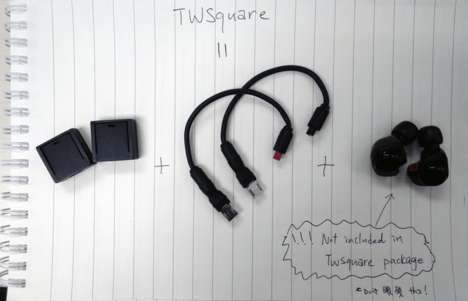 Wireless Earbud Converters - TWSquare Converts Regular Earbuds into True Wireless Earbuds