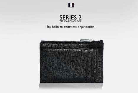 Compact Organizational Wallets - The SERIES 2 Zip Cardholder is Compact and Full of Compartments