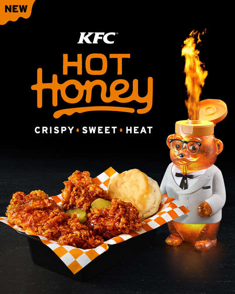 Honey-Coated Chicken Tenders - KFC's Hot Honey Fried Chicken is Now Available in the Form of Tenders