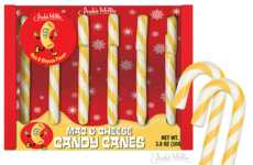 Cheesy Macaroni Candy Canes