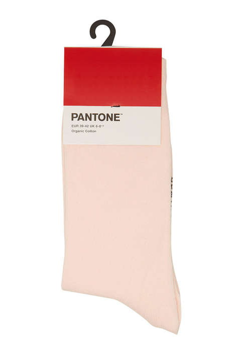 Artfully Designed Sock Collections - Pantone Socks Have Been Released in Aesthetically Pleasing Hues