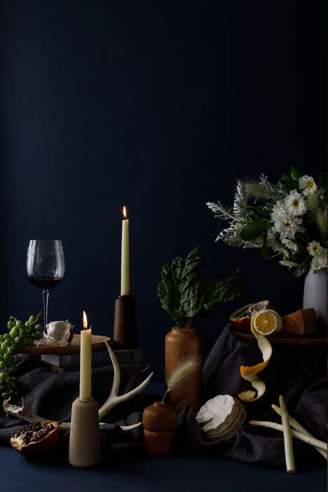 Season-Informed Still Life Photoshoots - Melanie Abrantes Debuts Her Line in a Beautiful Setting