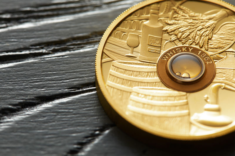 Whisky-Infused Coins