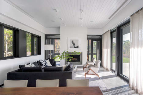 Low-Slung All-Black Homes