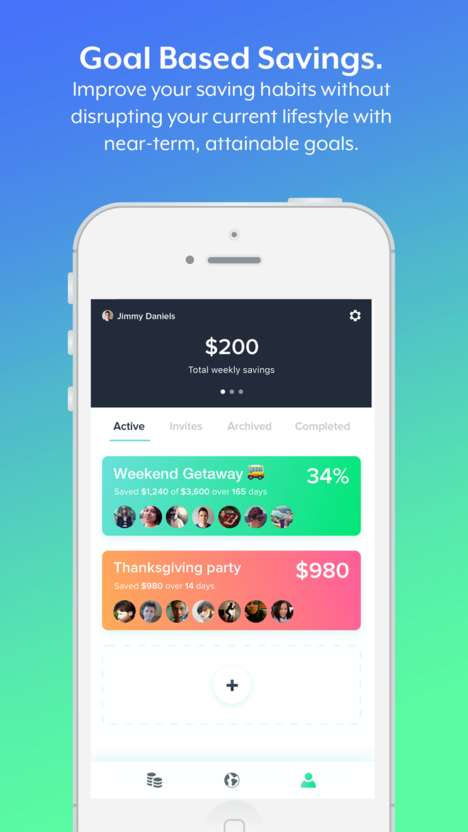 Collaborative Saving Finance Apps - The 'Divvy' Social Saving App Focuses on Finance Goals