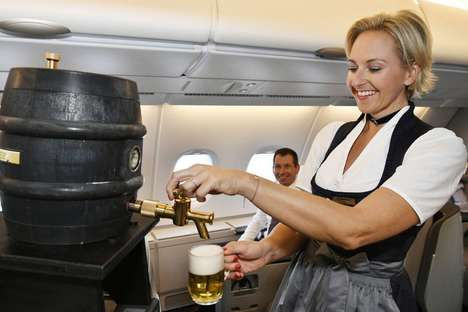 Inflight Oktoberfest Beers - Lufthansa is Serving Fresh Draft Beer On-Board for Oktoberfest