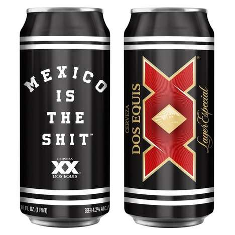 Mexico-Celebrating Beer Cans - Dos Equis Collaborated with a Streetwear Brand on a Co-Branded Design