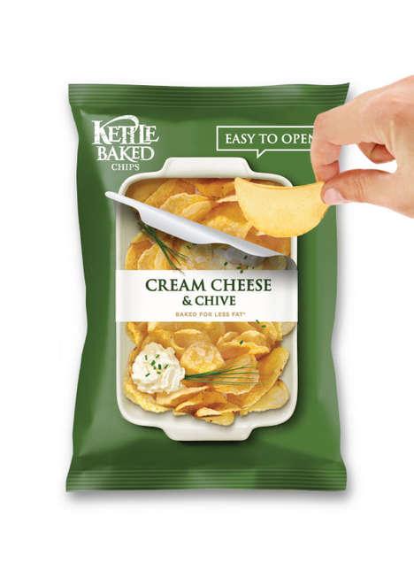 Easy Open Snack Packaging - This Kettle Baked Chips Packaging Encourages Sharing