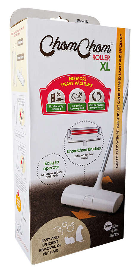 Non-Electric Pet Fur Cleaners - The ChomChom Roller XL Keeps Couches, Beds & Carpets Free of Pet Fur