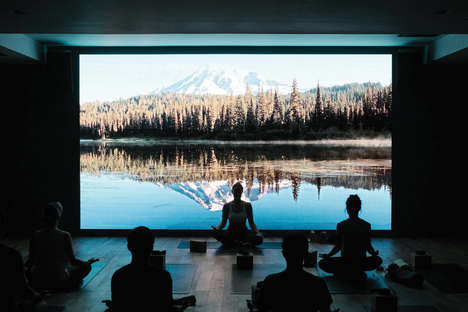 Cinematic Yoga Classes - FLY LDN's Yoga Classes are Set to Displays That Connect People with Nature