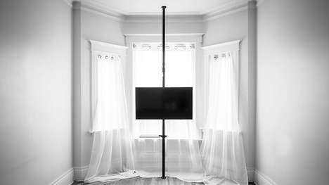 Adjustable Pole TV Stands
