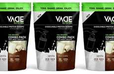 Dissolving Pouch Protein Supplements - The VADE Nutrition Dissolvable Protein Scoops are Convenient
