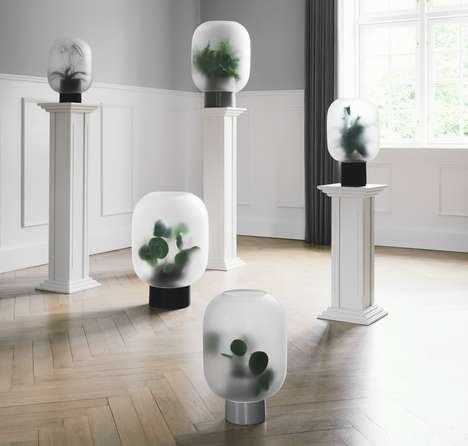 Intentionally Foggy House Planters - The 'Nebl' Planter Has an Ethereal Aesthetic