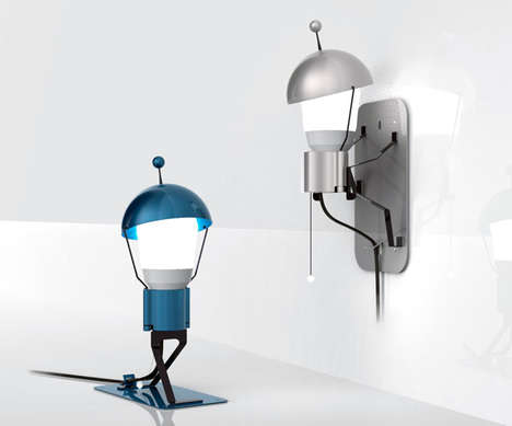 Personified Character Illuminators - The 'Mr. StickMan' Lamp is a Charming Approach to Lighting