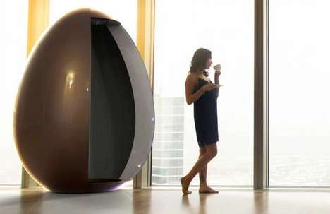 Isolation Chamber Showers - The Idiha Egg Shower Offers a Private Space to Relax and Bathe