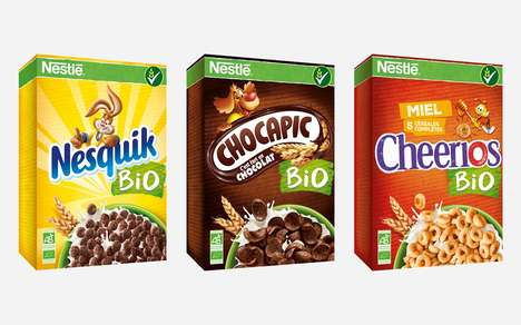 Organic Mainstream Cereals - These Organic Nestlé Cereals are Available in Europe