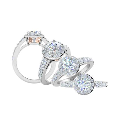 Customized Engagement Rings - Allurigem's Personalized Engagement Rings Integrate a Pair's Initials