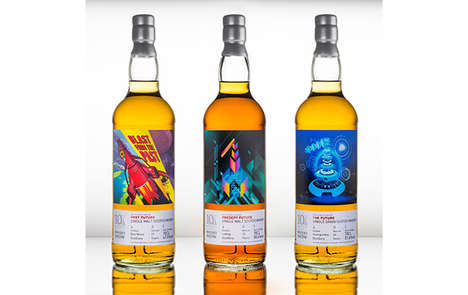 Fututistic Whisky Bottles - The Whisky Exchange's Limited Bottles Explore the Future of Whisky