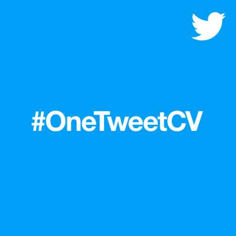 Condensed Resume Initiatives - #OneTweetCV Challenges Jobseekers to Apply with a Single Tweet