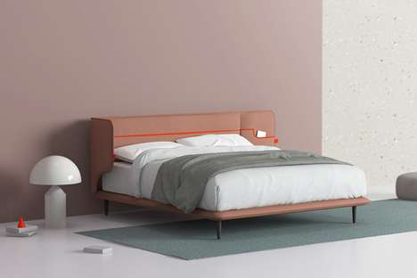 Malleable Headboard Beds - The 'Cuddle' Bed Eliminates the Need for Bedside Tables