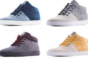 Sustainable Wool High-Top Shoes