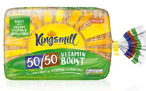 Vitamin-Enriched Breads - The Kingsmill 50/50 Vitamin Boost Bread Has Seven Vitamins and Minerals
