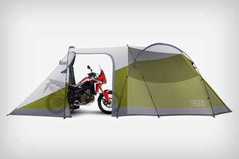 Motorcycle-Sheltering Tents