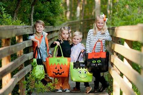 Handmade Monogrammed Treat Totes - These Halloween Treat Bags are Durable and Customized
