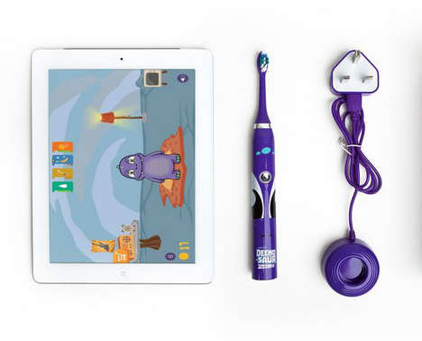 Connected Child Toothbrushes - The DEENO-SAUR Toothbrush Lets Parents Keep an Eye on Oral Habits