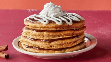 Stacked Pumpkin Pancakes