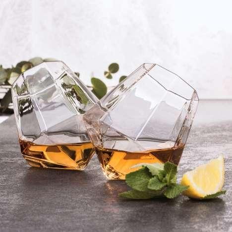 Diamond-Shaped Whiskey Glasses