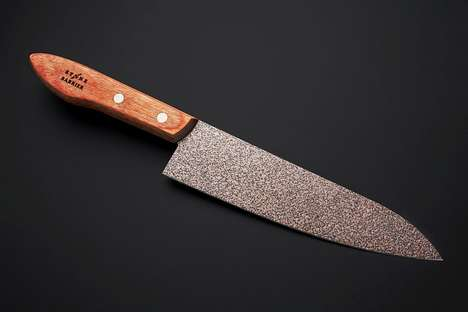 Stone-Finished Kitchen Knives