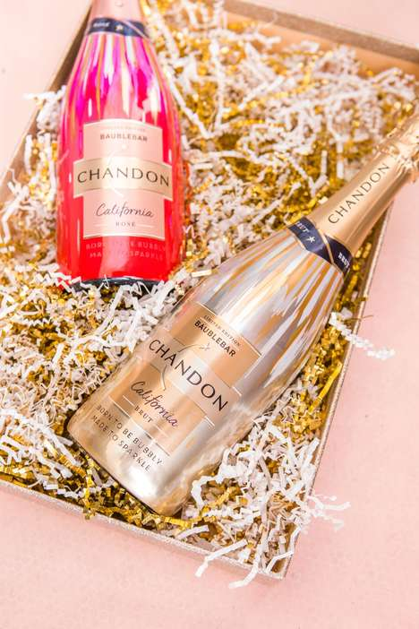 Elegant Limited Edition Wines - Chandon California Teams Up with BaubleBar for a Holiday Collection