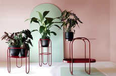 Bauhaus-Inspired Plant Stands - Bujnie Introduces the BonBon Collection Full of Simplistic Forms
