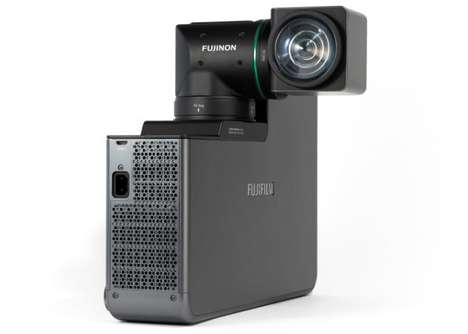 Rotating Laser Lens Projectors - This Fujifilm Short Throw Projector Creates immersive Imagery