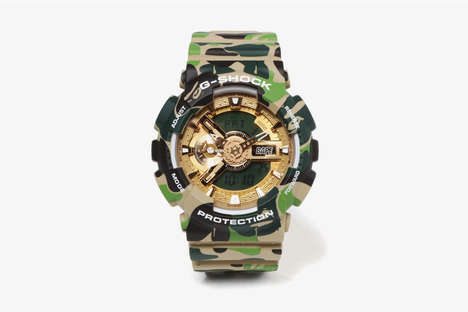 Chunky Camo Wristwatches
