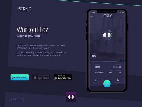 Intentionally Simplified Workout Apps