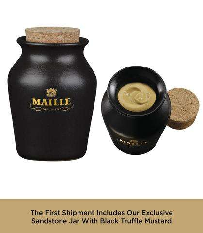 Black Truffle Mustard Subscriptions - Maille's Truffle-Infused Condiment has a Delivery Service