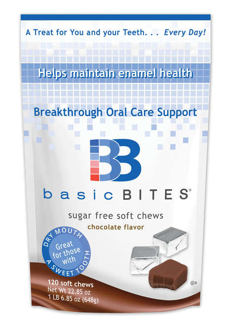 Oral Care Soft Chews - BasicBites Chocolate Soft Chews Support Oral Care and Enamel Health