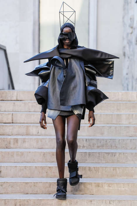 Sculptural Avant-Garde Fashion Lines