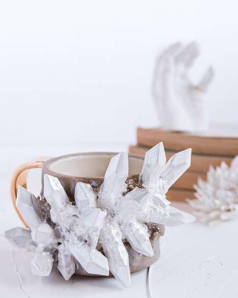 Customizable Handmade Crystal Mugs