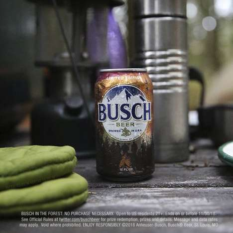 Forest-Hidden Beer Contests - The Busch in the Forest Contest Boasts Medallions in America's Forests