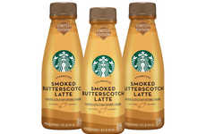 Bottled Butterscotch Lattes - Starbucks' Limited-Edition Latte for Fall Comes Ready to Drink