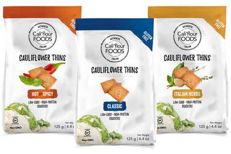 High-Protein Cauliflower Crackers