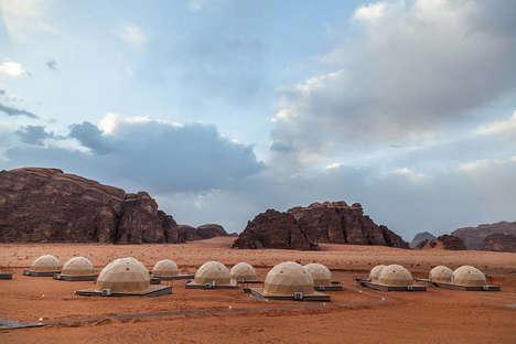 Mars-Inspired Camping Resorts