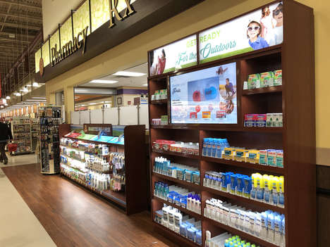 Digitally Interactive POS Displays - Johnson & Johnson's Multi-Brand Marketing Wall is Informative