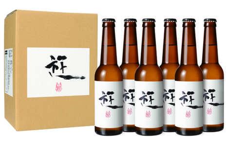 Anime-Inspired Beer Label Art