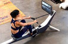 Connected Rowing Exercise Machines - The 'HYDROW' Outdoor Reality Rower Activates 86% of Muscles